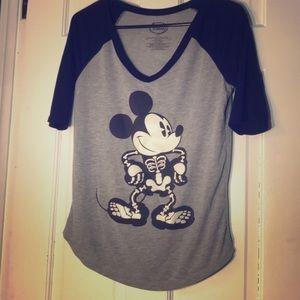 Disney | Mickey Mouse Skeleton Glow in Dark Top